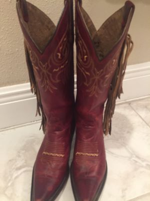 WOMENS TONY LAMA DARK BURNT RED BOOTS for Sale in Palm Coast, FL