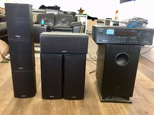 Onkyo 1000 watt 6 speaker and sub woofer for Sale in West New York, NJ