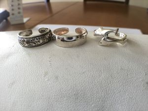 3 piece sterling toe ring group for Sale in Cumberland, RI