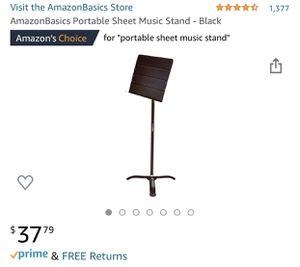 AmazonBasics Sheet Music Stand for Sale in Pomona, CA