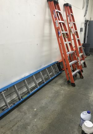 Werner fiberglass step ladders for Sale in West Carson, CA