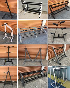Tons Of Dumbbell Racks/ Weight Trees/ Bar Holders/ Olympic Weight Plates/ Squat Rack Pegs Availble for Sale in Davenport, FL