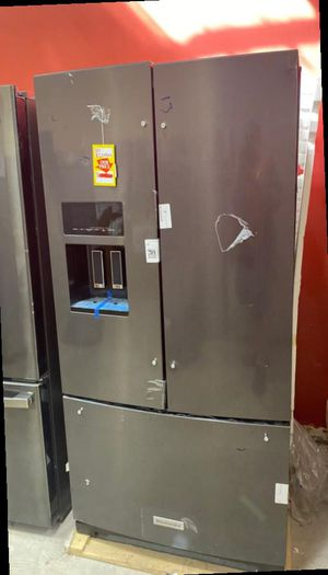 Kitchen aid KRFF507HBS refrigerator 💦💦💦 SE for Sale in San Antonio, TX