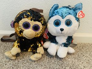 TY sequin beanie baby backpacks for Sale in Antioch, CA
