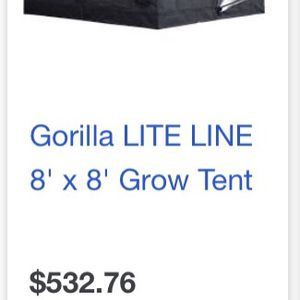Grow tent And 2 1000w LED Lights Gorilla Grow tent for Sale in Antioch, CA