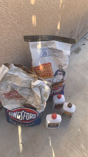 Kingford full bag half bag and 1 new lighter fluid and 2 half for Sale in Hemet, CA