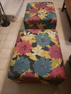 Two ottomans with under seat storage. for Sale in Edmonds, WA