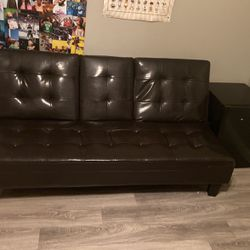 Leather Fold Out Futon for Sale in El Cajon,  CA