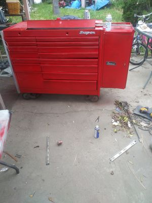 Snap on tool box with side cabinet for sale or trade for Sale in Ceres, CA