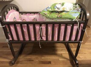 Baby Cradle Mini Crib & Bedding for Sale in Dallas, TX