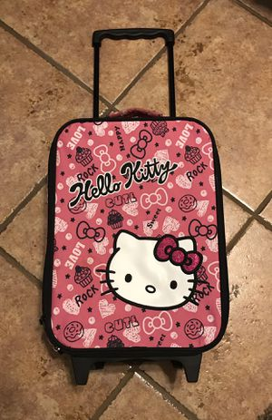 Cute Hello Kitty Rolling Suitcase w/matching doll for Sale in Montverde, FL