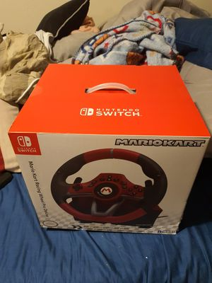 Mario kart steering wheel and gas pedals for nintendo switch for Sale in Granite Falls, WA