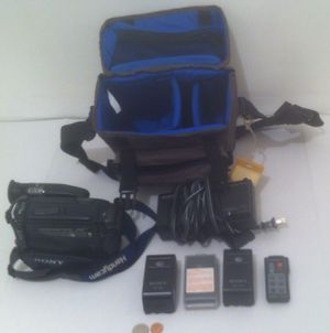 Good Sony Video 8 Handycam Camera Recorder AF CCD, Complete with Carry Bag, Remote Control for Sale in Lakeside, CA