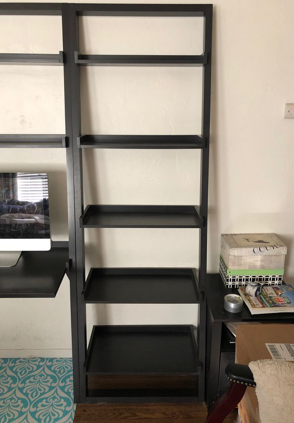 Crate and Barrel ladder desk and shelves