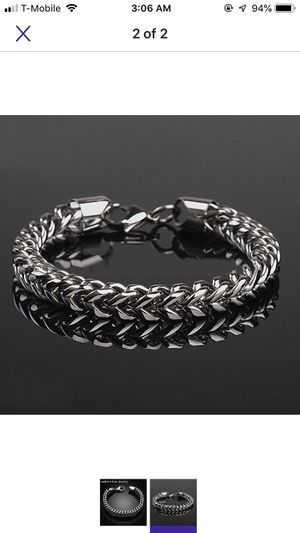 Stainless steel thick bracelet for Sale in Irving, TX