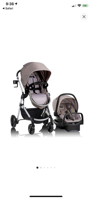 Evenflo Pivot Modular travel system with safemax infant car seat for Sale in Jacksonville, FL