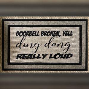 18 in. x 30 in. Rubber Backed Door Mat for Sale in Upper Marlboro, MD