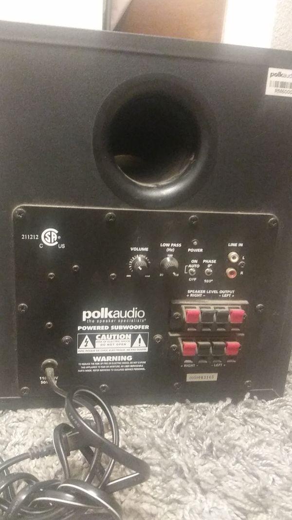 Polk audio bass sub woofer for surround souund 30.00
