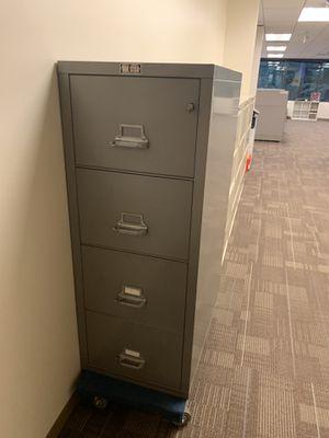 Fire locking legal size file cabinet for Sale in Bellevue, WA