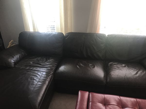 Cindy Crawford Maglie 2 Pc Leather Sectional Sofa For In Virginia Beach Va Offerup