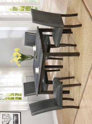 Pompei Gray Rectangular Dining Set | 7-PIECE (TABLE+6 CHAIRS) for Sale in Houston, TX