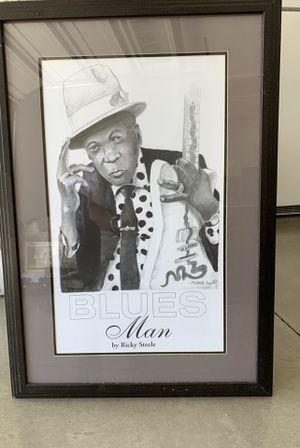 Blues Man Original Charcoal Signed by Original Artist for Sale in Knoxville, TN