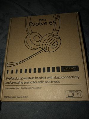 Jabra Evolve 65 Wireless Headset for Sale in Carson, CA