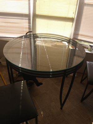 Glass kitchen table 4 chairs for Sale in Ruffin, NC