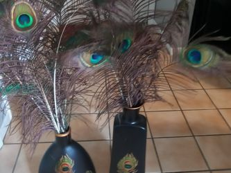Peacock Vases With Feathers for Sale in Orlando,  FL