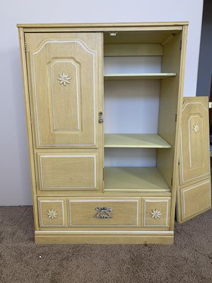 Armoire - small, yellow for Sale in Medford, OR