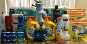 Tide Simply Liquid & Pods Detergent, Angel Soft Toilet Paper, Dove, Old Spice, Dawn, Crest, Febreze, TRESemme for Sale in Downey, CA