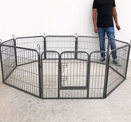 "(NEW) $70 Heavy Duty 24"" Tall x 32"" Wide x 8-Panel Pet Playpen Dog Crate Kennel Exercise Cage Fence Play Pen for Sale in Pico Rivera,  CA"