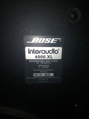 BOSE InterAudio XL Speakers for Sale in Chicago Heights, IL
