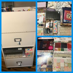 Art cart organizer with Huge Stash art supplies included for Sale in Phoenix, AZ