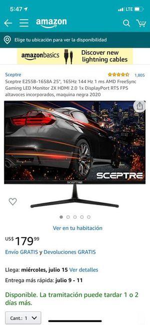 Specter 25 inch 1080p 165 Hz 1 ms for Sale in Miami, FL