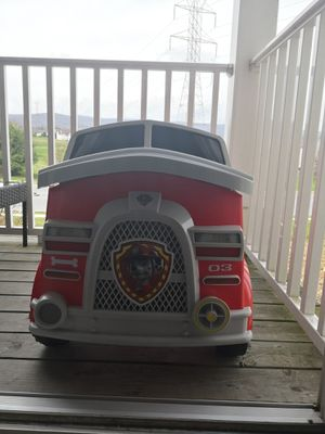 Paw Patrol Fire Truck 6 Volt powered Ride on Toy by Kid Trax, Marshall rescue. for Sale in Frederick, MD