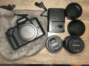 Canon M50 + EF-M 22mm + EF-M Kit lens 15-45mm for Sale in Fort Lauderdale, FL