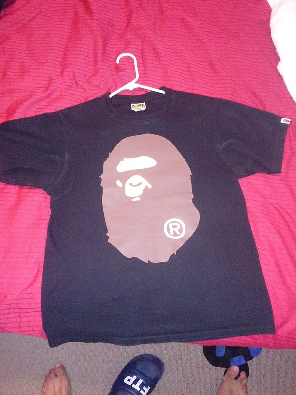 Bape ape head tee (front and back) Medium
