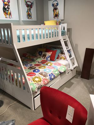 Twin overfull bunk bed with trundle for Sale in Surprise, AZ
