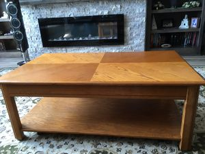 Oak lift coffee table for Sale in Wichita, KS
