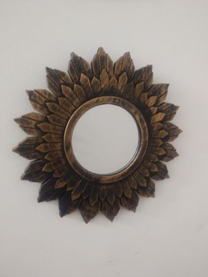 Gold Sunflower Mirror for Sale in Jersey City, NJ