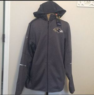 Men's Ravens Jacket Hoodie XL Under Armour NWT for Sale in Stevensville, MD