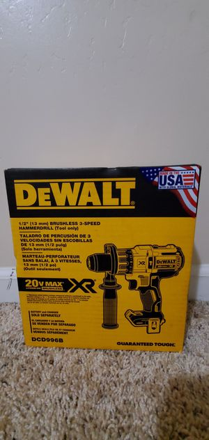DEWALT 20-Volt MAX XR Lithium-Ion Cordless 1/2 in. Premium Brushless Hammer Drill (Tool-Only) for Sale in Bakersfield, CA