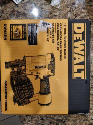 DEWALT Next Generation 15 Deg 1-3/4 in. Pneumatic Coil Roofing Nailer DW45RN for Sale in Bakersfield, CA