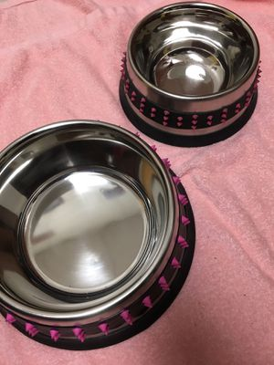 Stainless steal spill proof dog bowls for Sale in Washington, DC