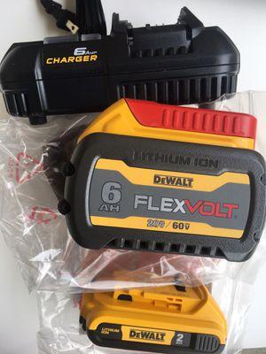 Dewalt 1-6.0Ah, 1-2.0Ah batteries, 1-6 amp fast charger and 1-BAG for Sale in Fremont, CA