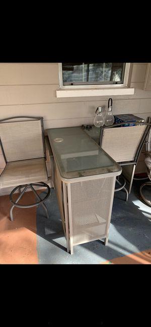 Aluminum 3 Piece Patio Bar Set for Sale in Lakeland, FL