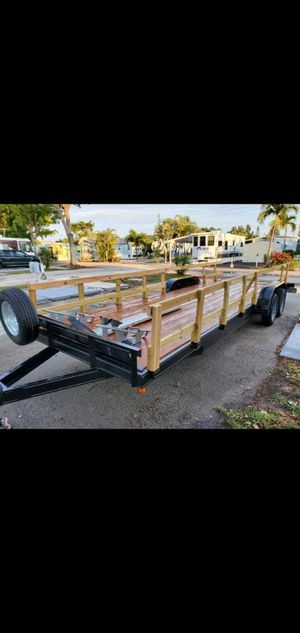 24' Flatbed Car Hauler/ Trailer w/ ramps & extras for Sale in Lauderdale Lakes, FL