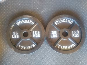 35 lb Olympic Plates for Sale in Aurora, IL
