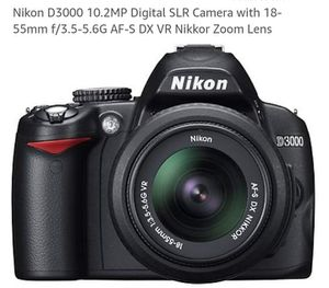 Nikon D3000 professional camera with lens for Sale in Cleveland, OH